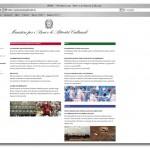 Un sito web per il Ministero